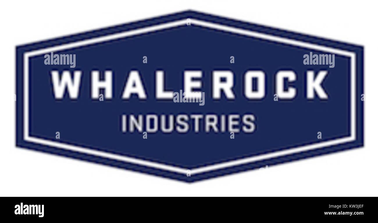 Whalerock Industries logo - Stock Image