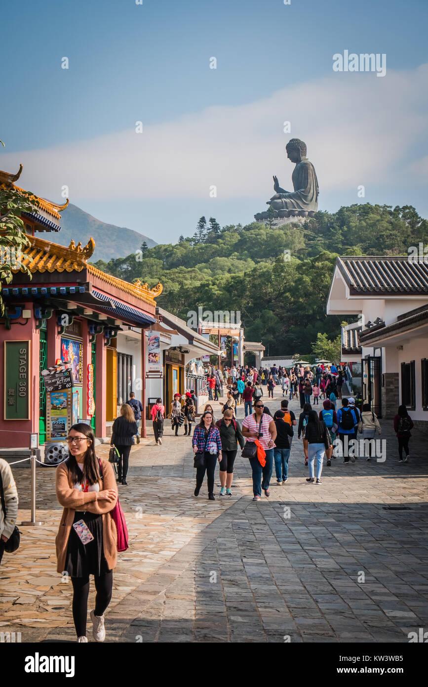 hong kong ngoing ping village - Stock Image
