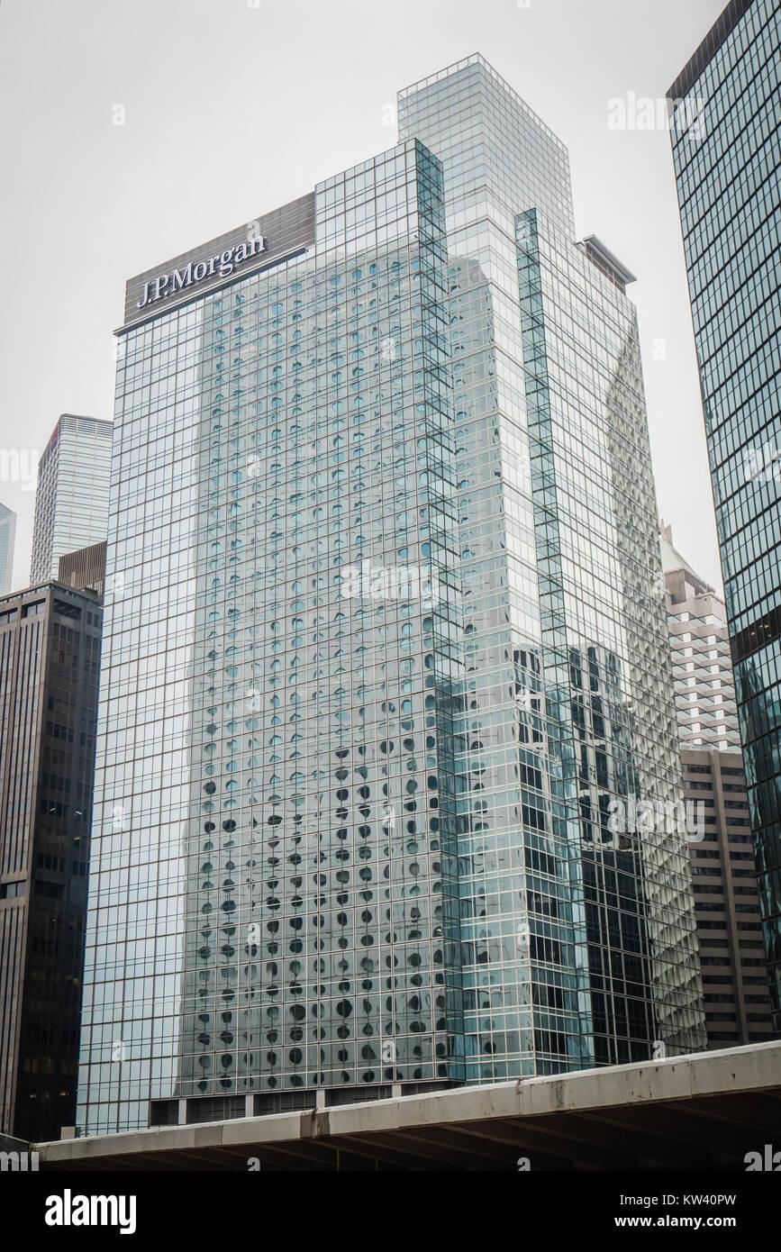 hong kong jp morgan building Stock Photo