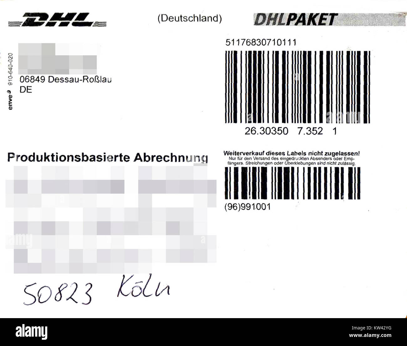 Paketaufkleber Stock Photos Paketaufkleber Stock Images