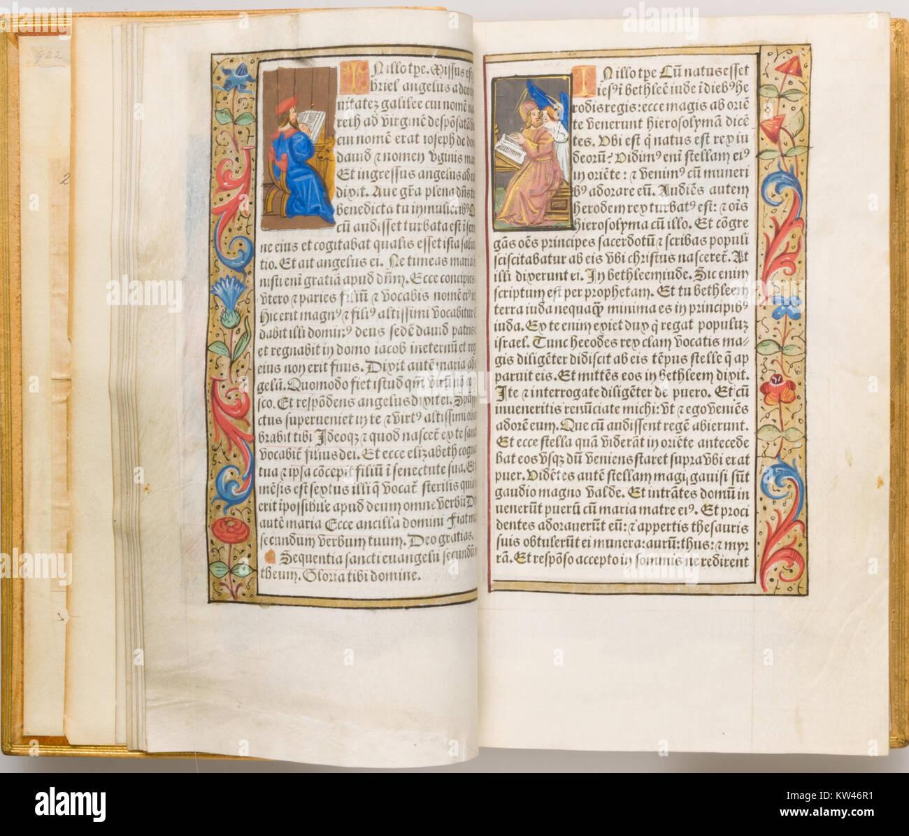 Book of Hours MET LC 89 27 4 s04 - Stock Image
