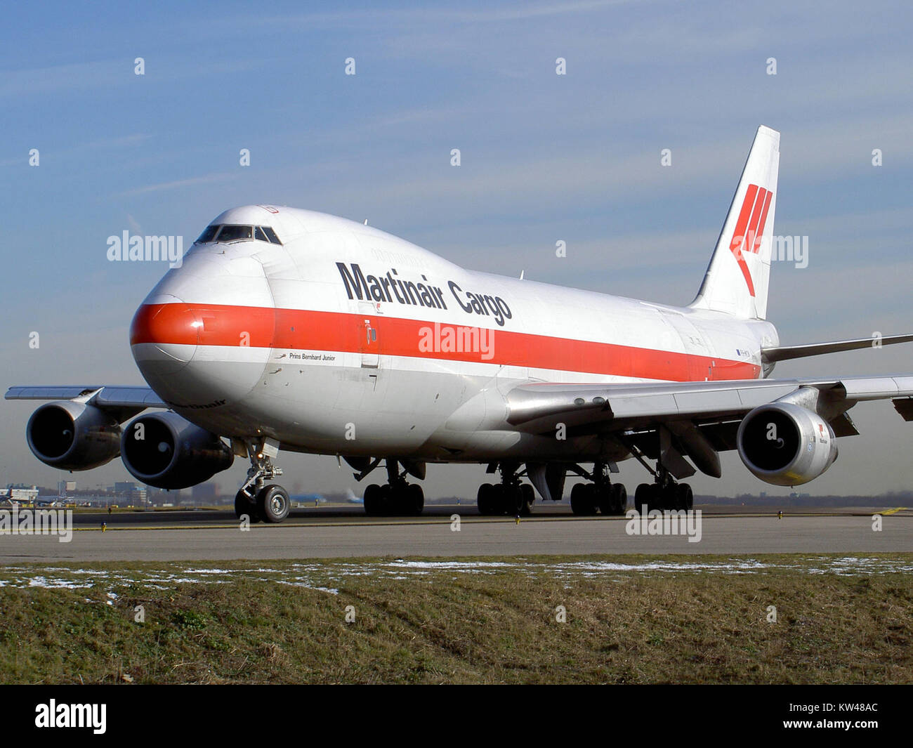 Boeing 747 Martinair Cargo PH MCN at Schiphol pic1 - Stock Image