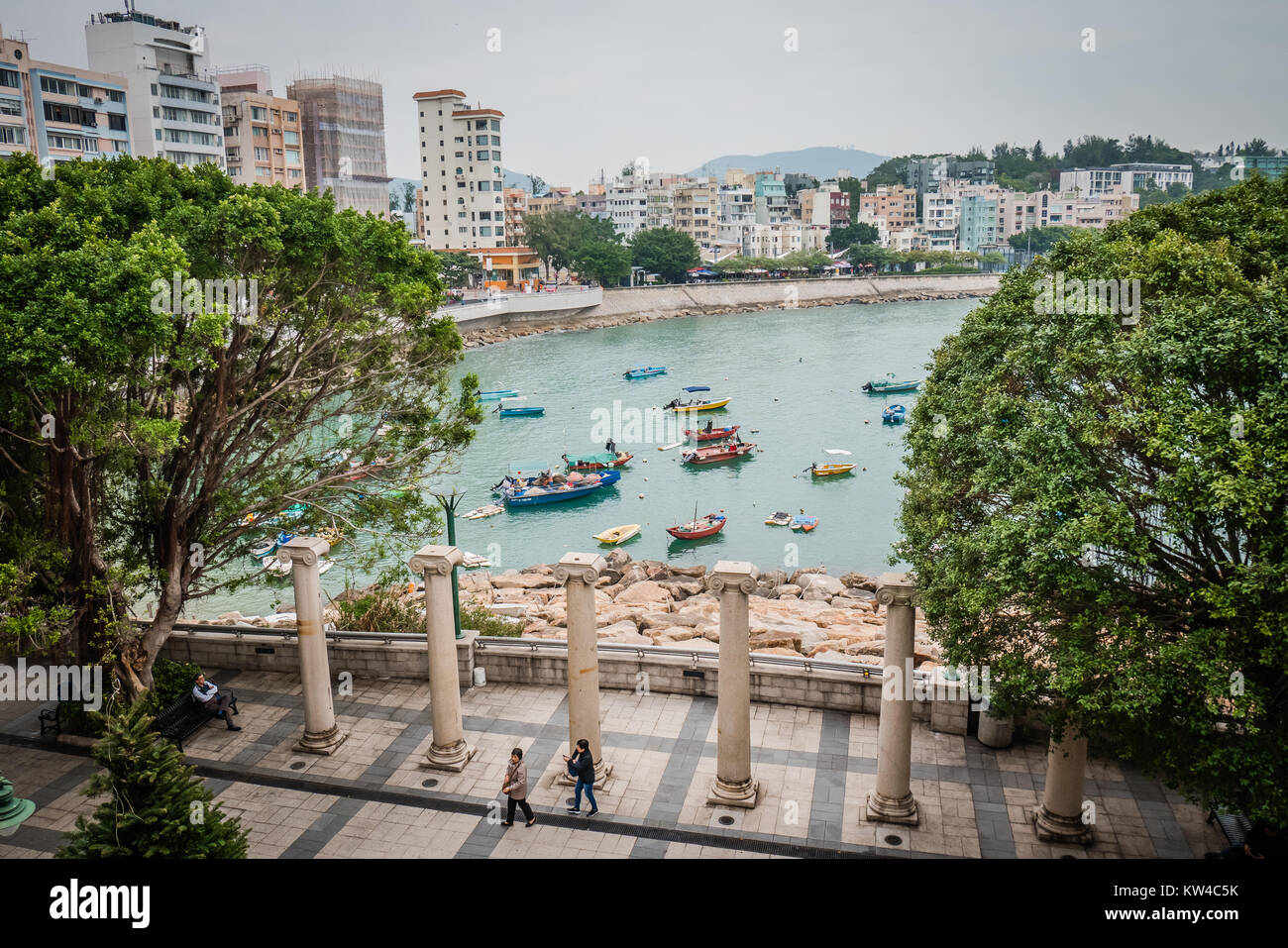 hong kong stanley is a seaside village with a laid back vibe popular with tourists - Stock Image