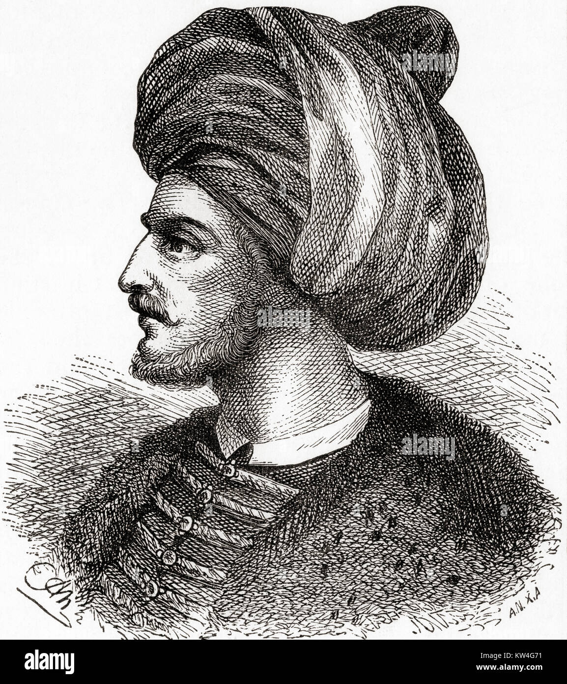 Mehmed II, aka Mehmed the Conqueror, 1432-1481.  Ottoman Sultan.  From Ward and Lock's Illustrated History of - Stock Image