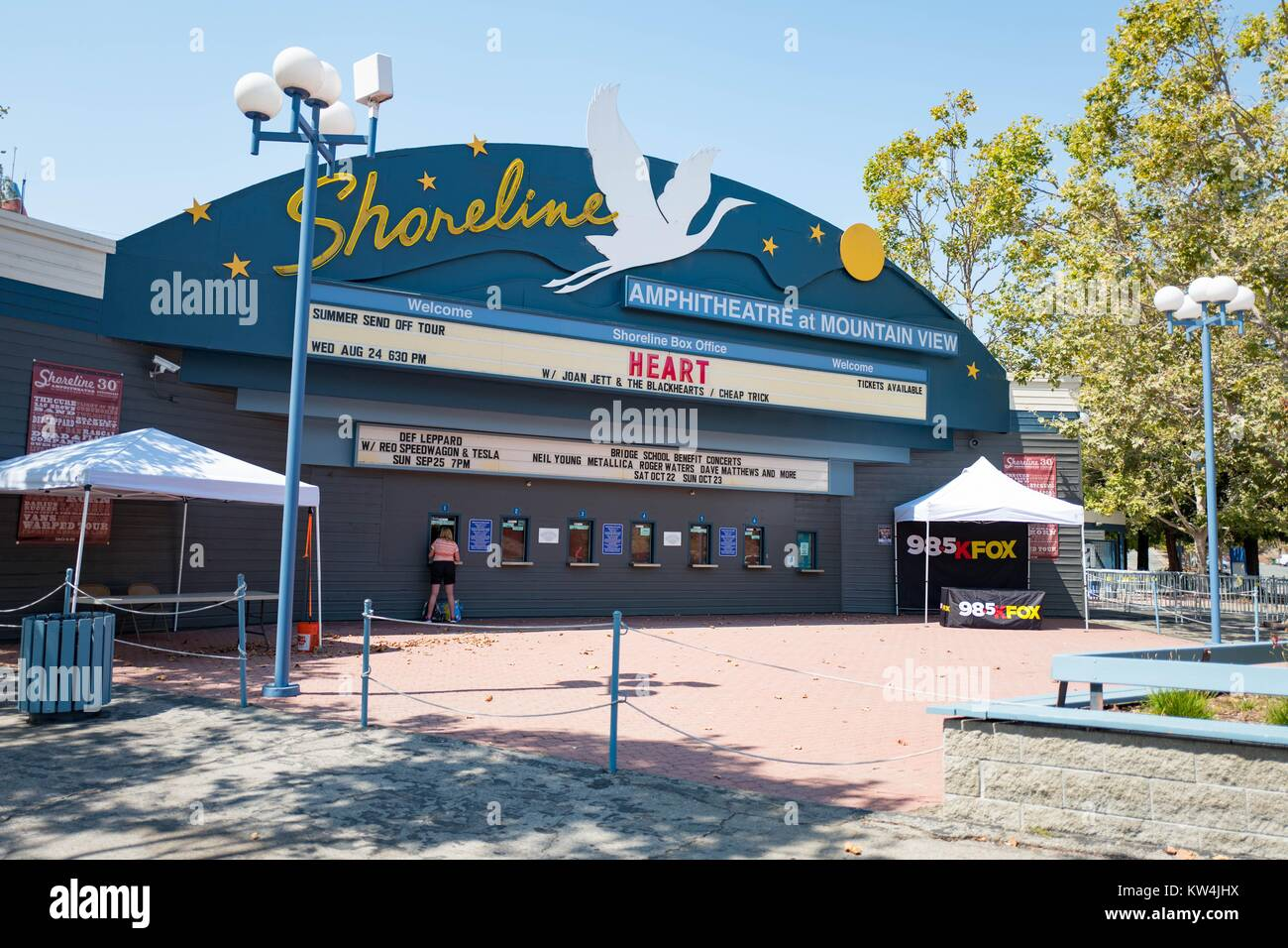 Ticket office at the Shoreline Amphitheatre, a popular concert venue in the Silicon Valley town of Mountain View, - Stock Image