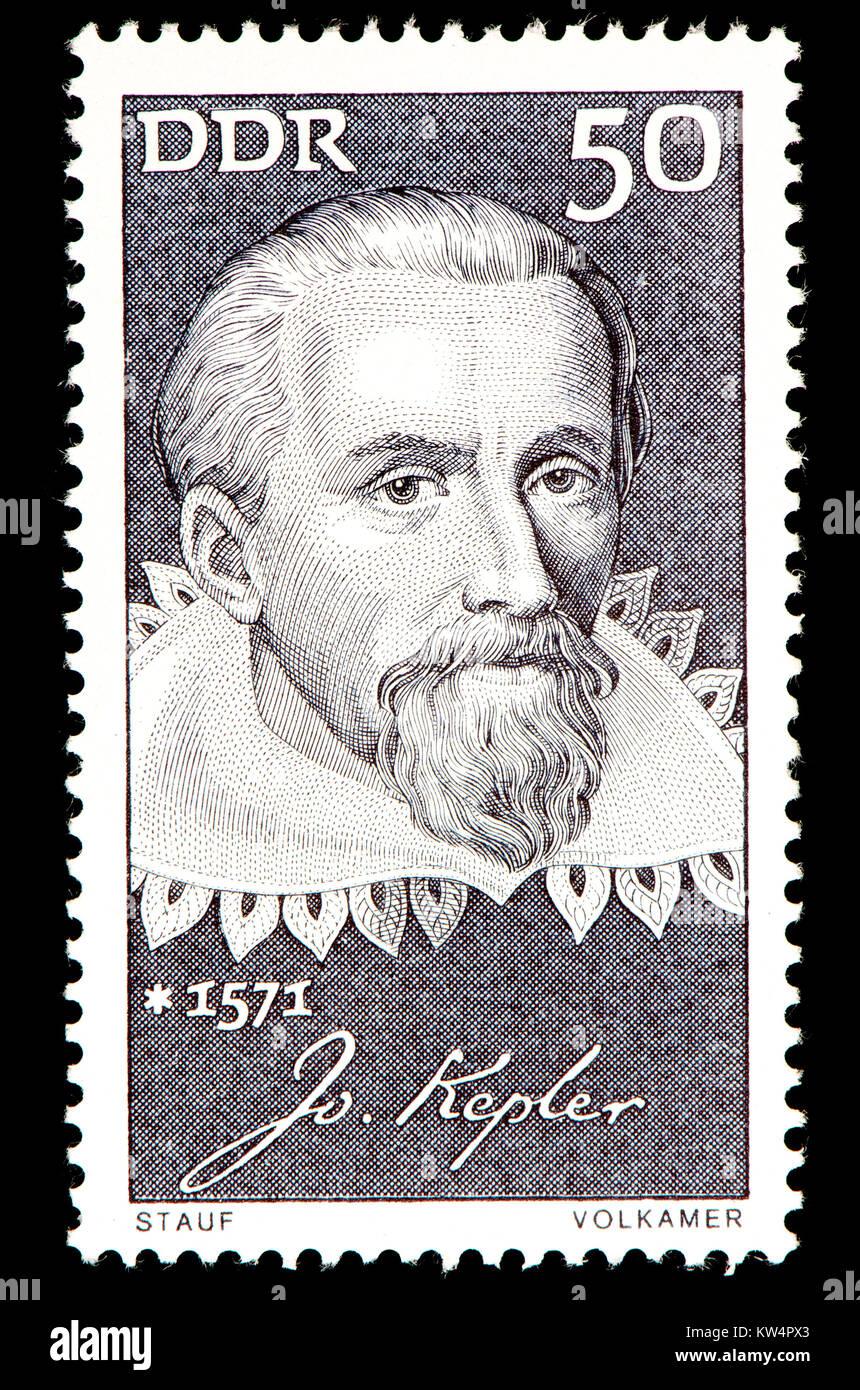 East German (DDR) postage stamp (1971): Johannes Kepler (1571 – 1630) German mathematician, astronomer, and astrologer. - Stock Image
