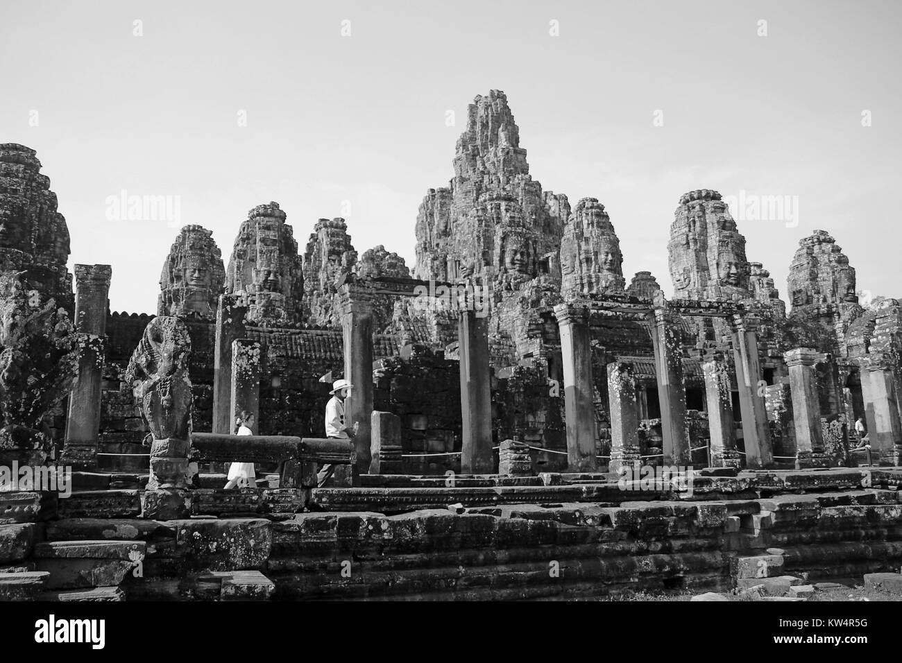 Prasat Bayon from Outside 1 - Stock Image