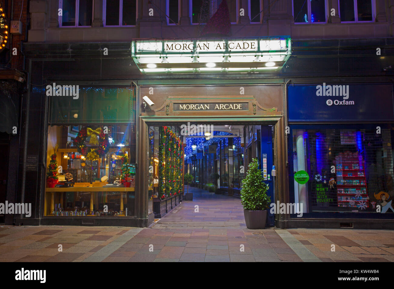 The Morgan Arcade, Cardiff, Wales, UK - Stock Image
