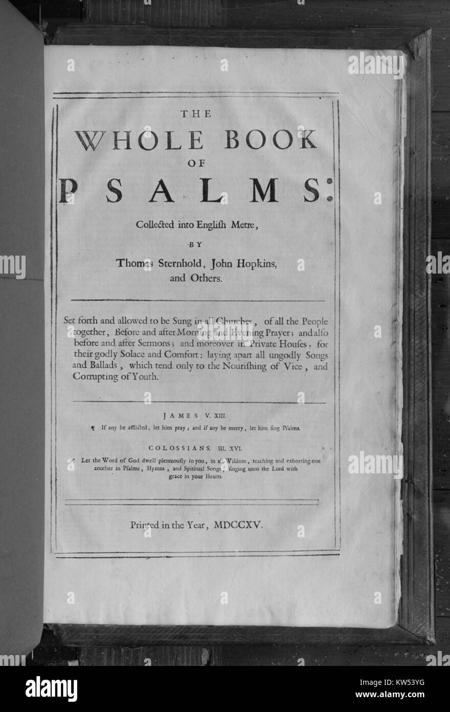 Book of Common Prayer, Bible, and Book of Psalms MET 120123 Stock Photo