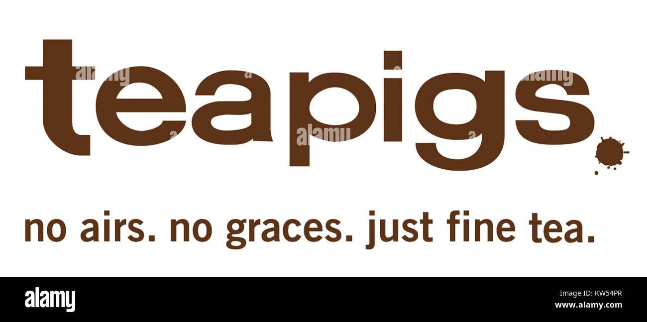 Teapigs no airs no graces logo large - Stock Image