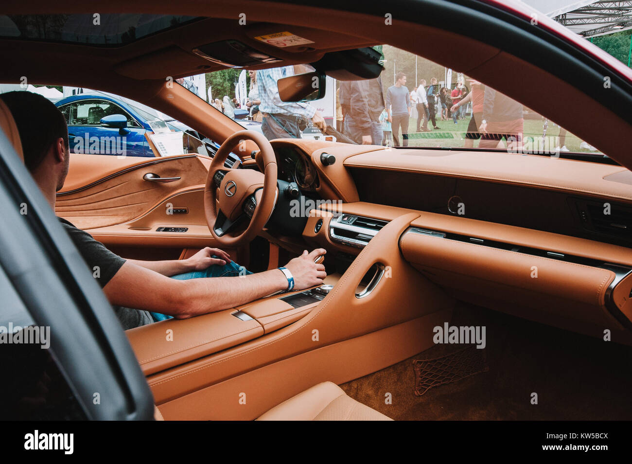 Inside Lexus  on Motoshow Classic in Poland, Wroclaw, 06.08.2017 - Stock Image
