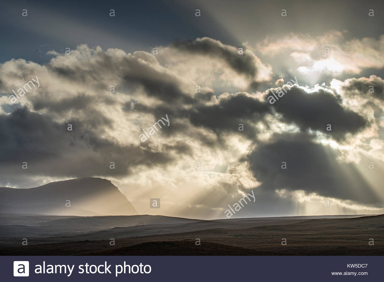 Clouds over the north highlands of Scotland. - Stock Image