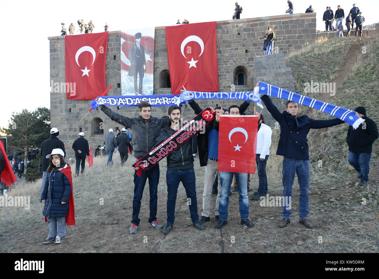 OCTOBER 9,2014 ERZURUM TURKEY.Celebration the victory of Russian Turkish war that happened in 1877.Annual march - Stock Image