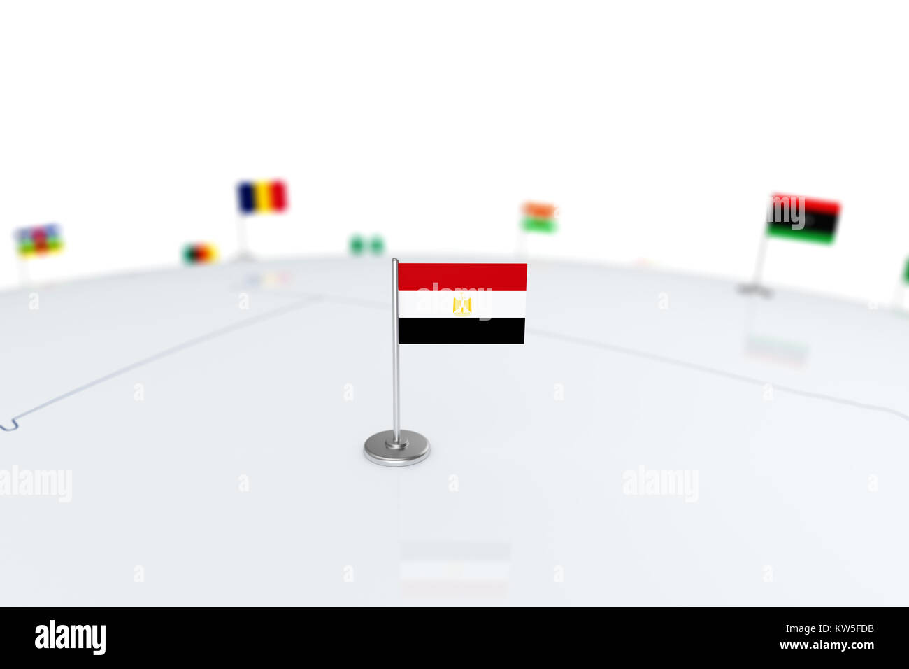 Egypt flag country flag with chrome flagpole on the world map with egypt flag country flag with chrome flagpole on the world map with neighbors countries borders 3d illustration rendering flag gumiabroncs Choice Image