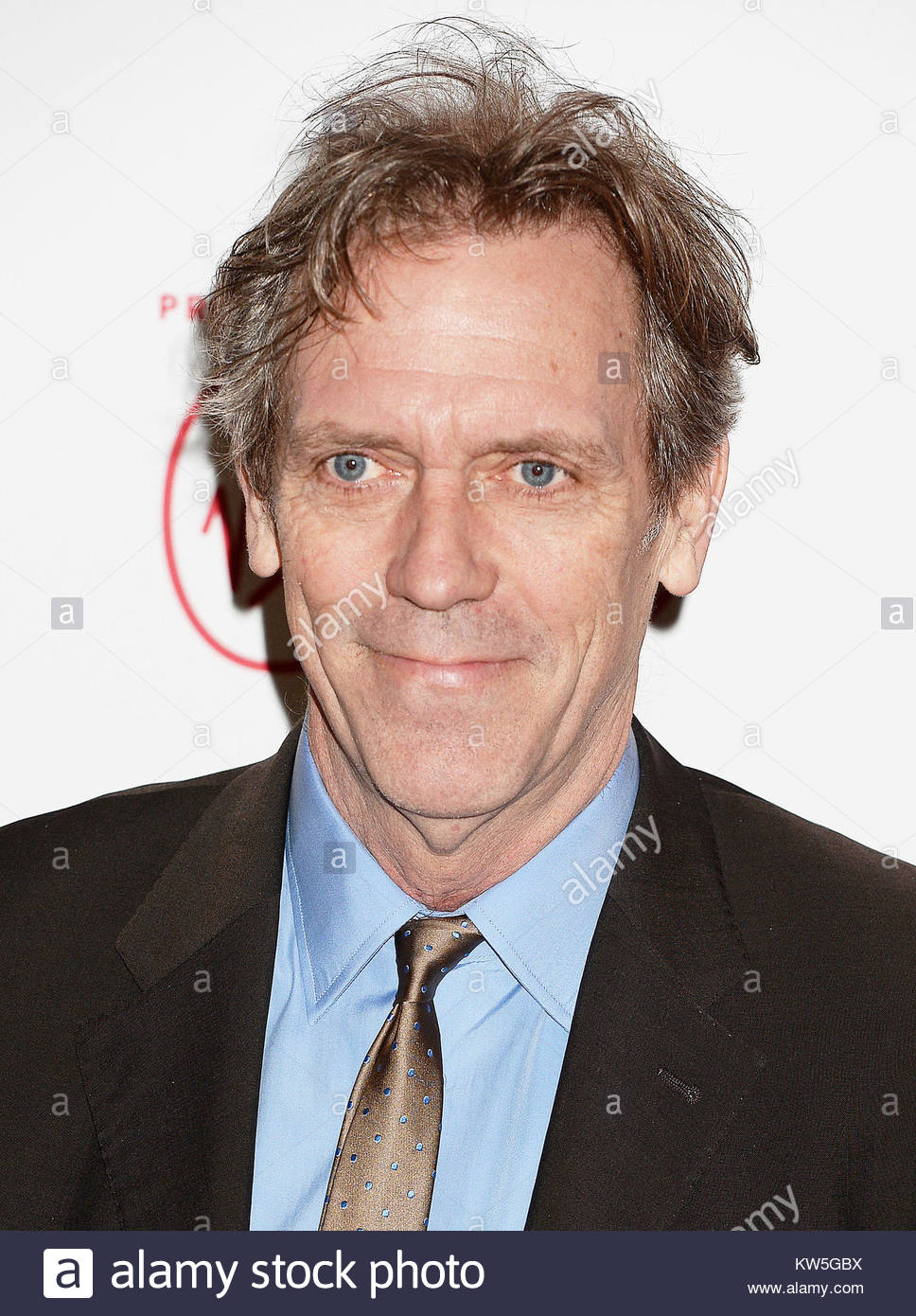 File photo dated 17/03/17 of Hugh Laurie who has been awarded an CBE for services to drama in the New Year Honours - Stock Image