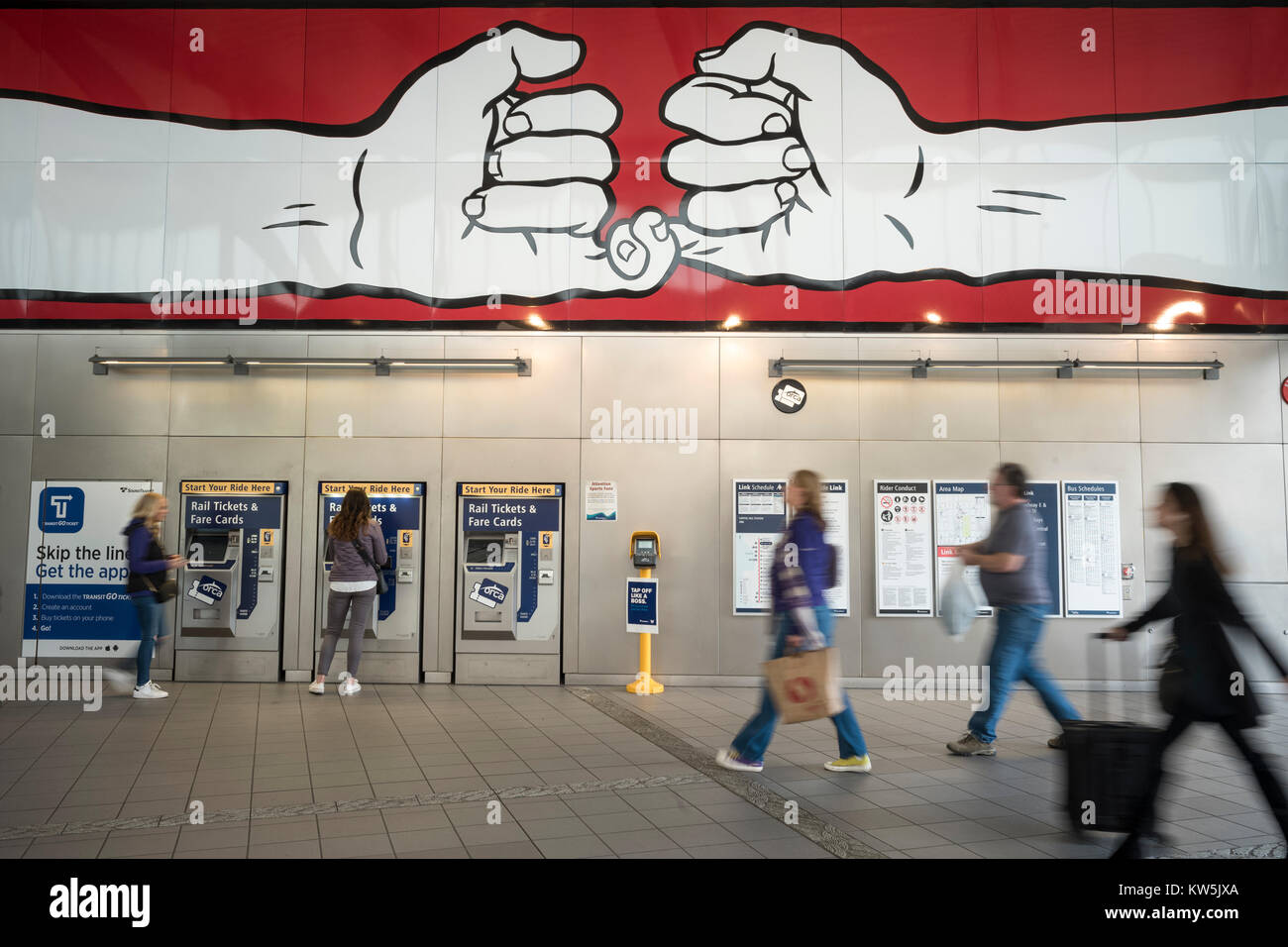 Rail Ticket Vending Machine Stock Photos & Rail Ticket