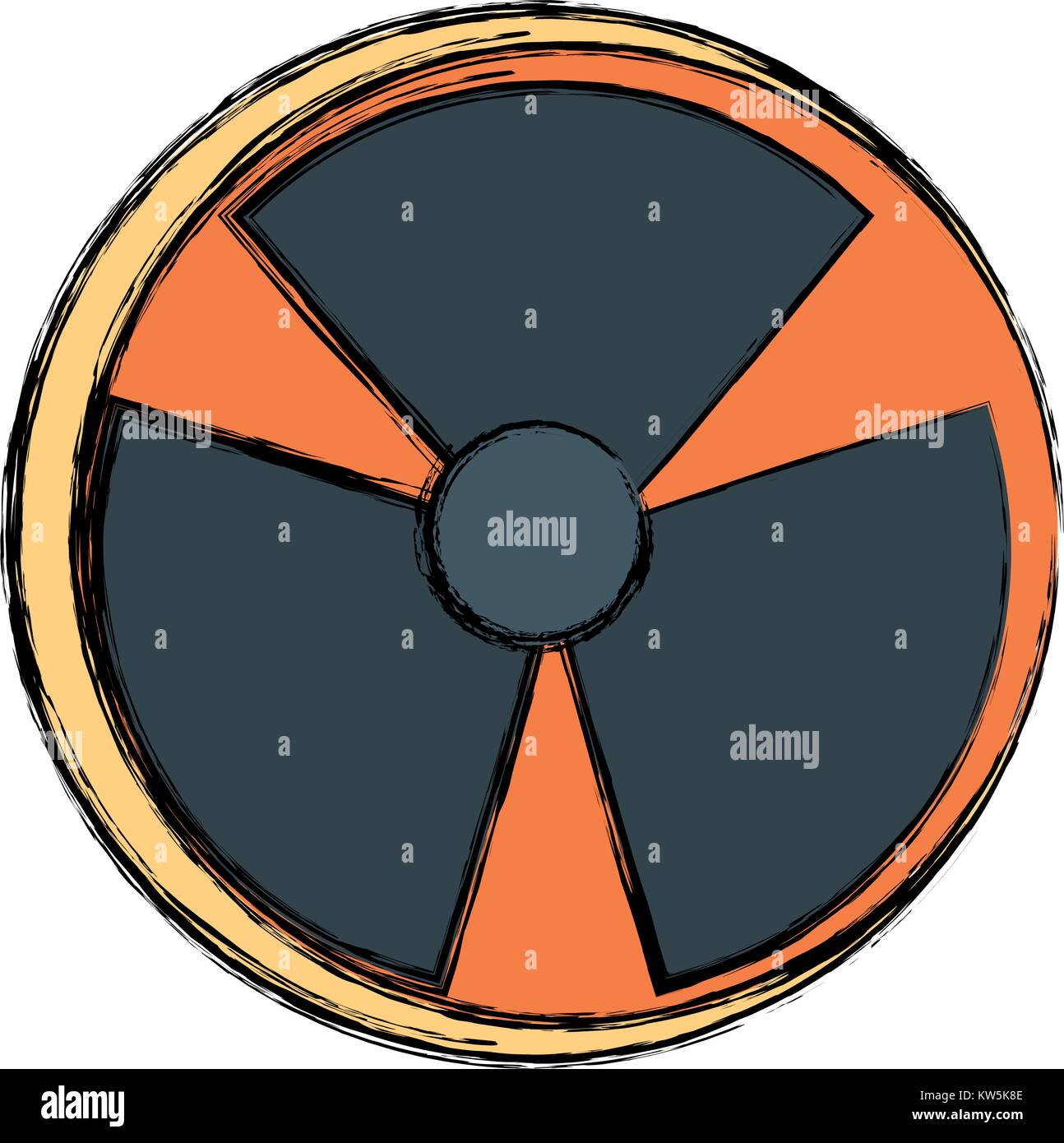 Nuclear danger symbol Stock Vector