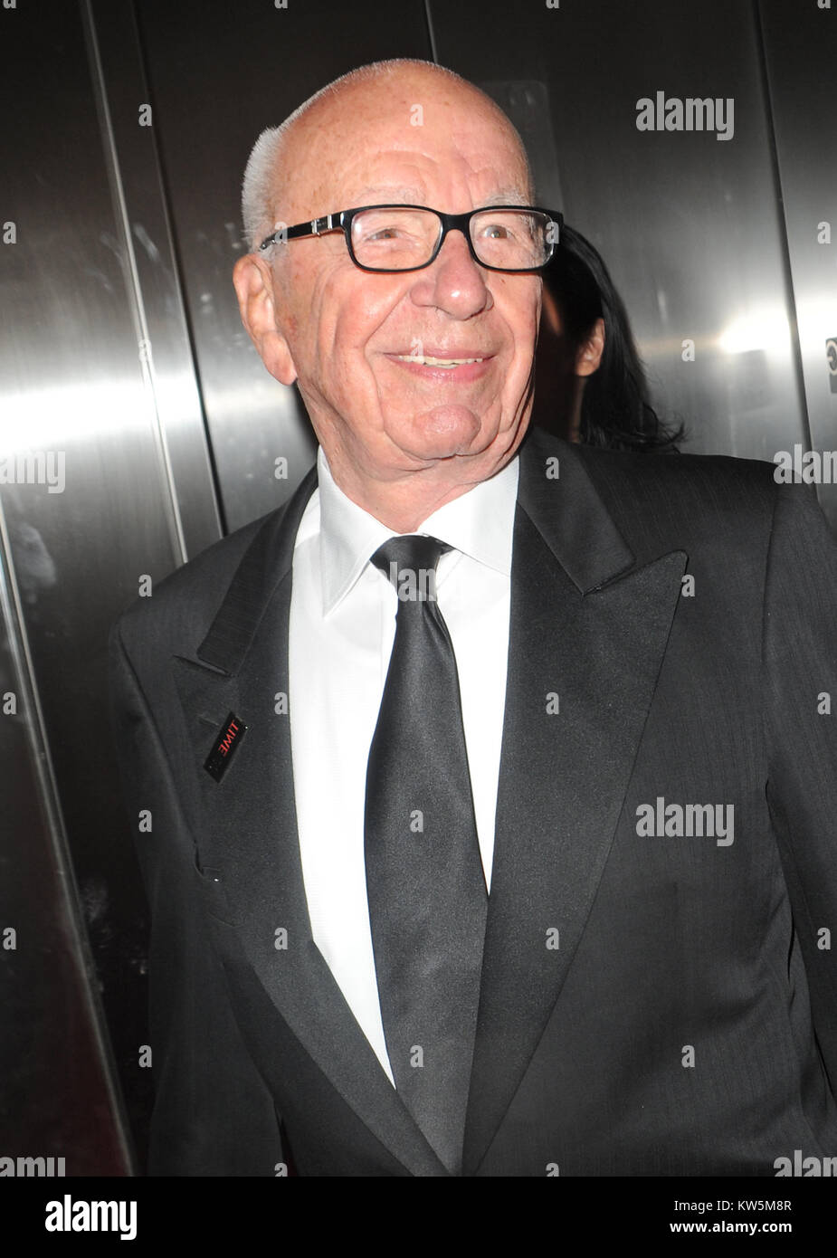 NEW YORK, NY - APRIL 29: Rupert Murdoch attends the TIME 100 Gala, TIME's 100 most influential people in the - Stock Image
