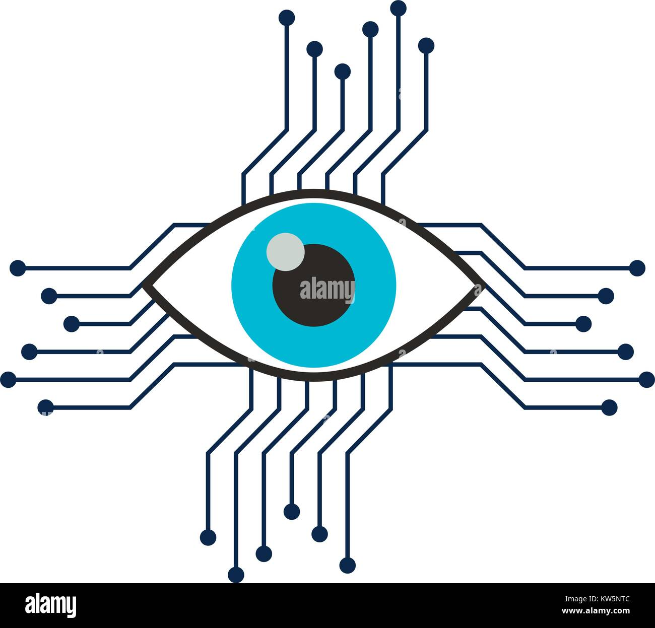 Vision Future Icon Stock Vector Images - Alamy