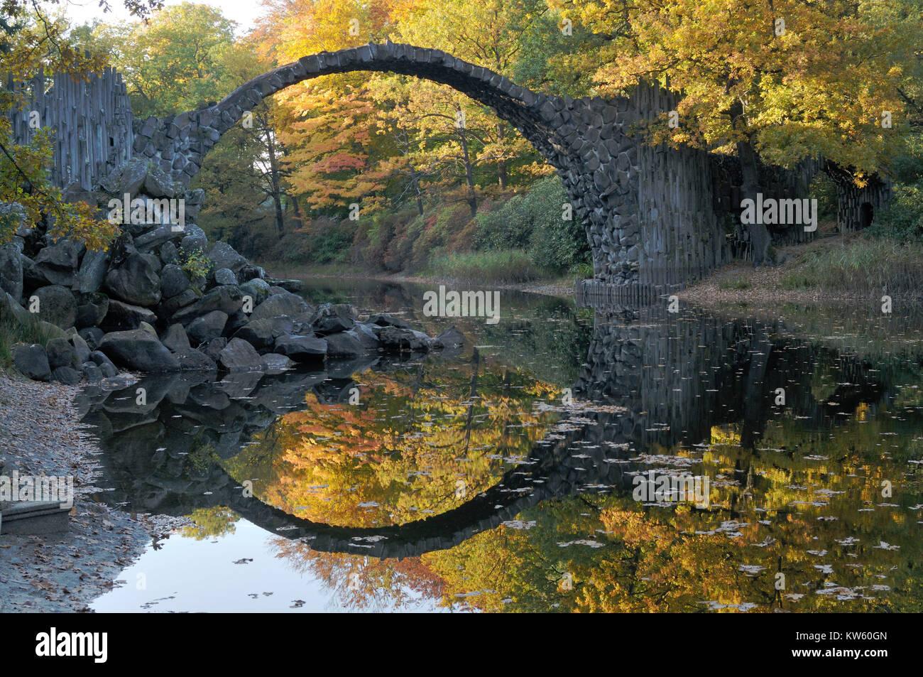 Scenery park Kromlau, Landschaftspark Kromlau - Stock Image