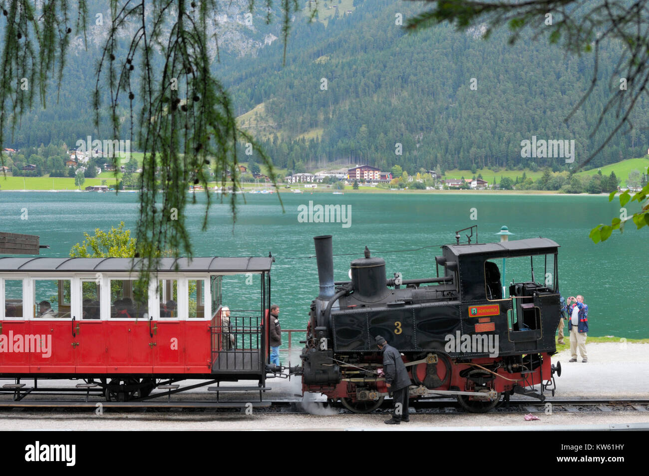 Achenseer rack railway , Achenseer Zahnradbahn - Stock Image
