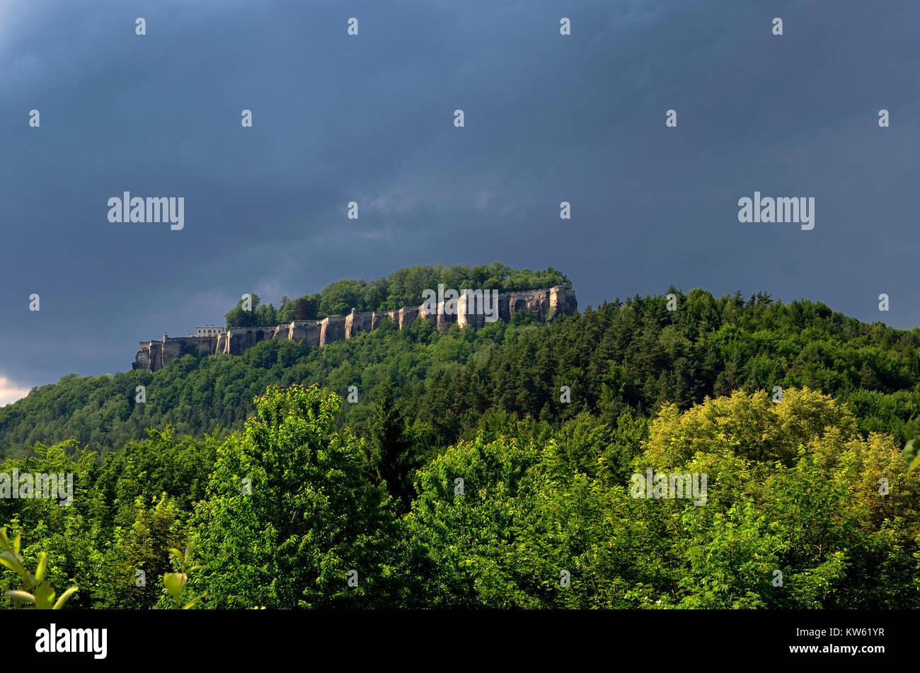 Elbsandsteingebirge Stock Photo
