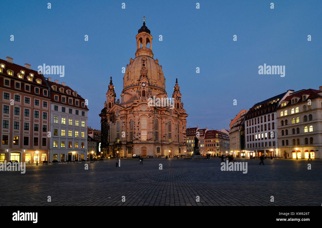 Church of Our Lady, Dresden, Frauenkirche - Stock Image