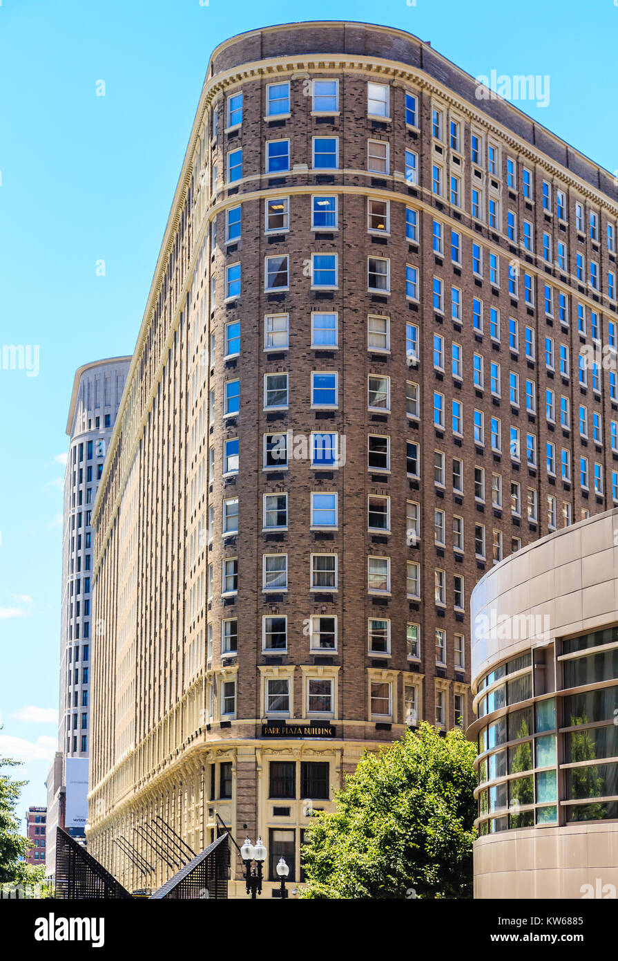 An Old Flatiron Style Building in Boston Massachussetts - Stock Image