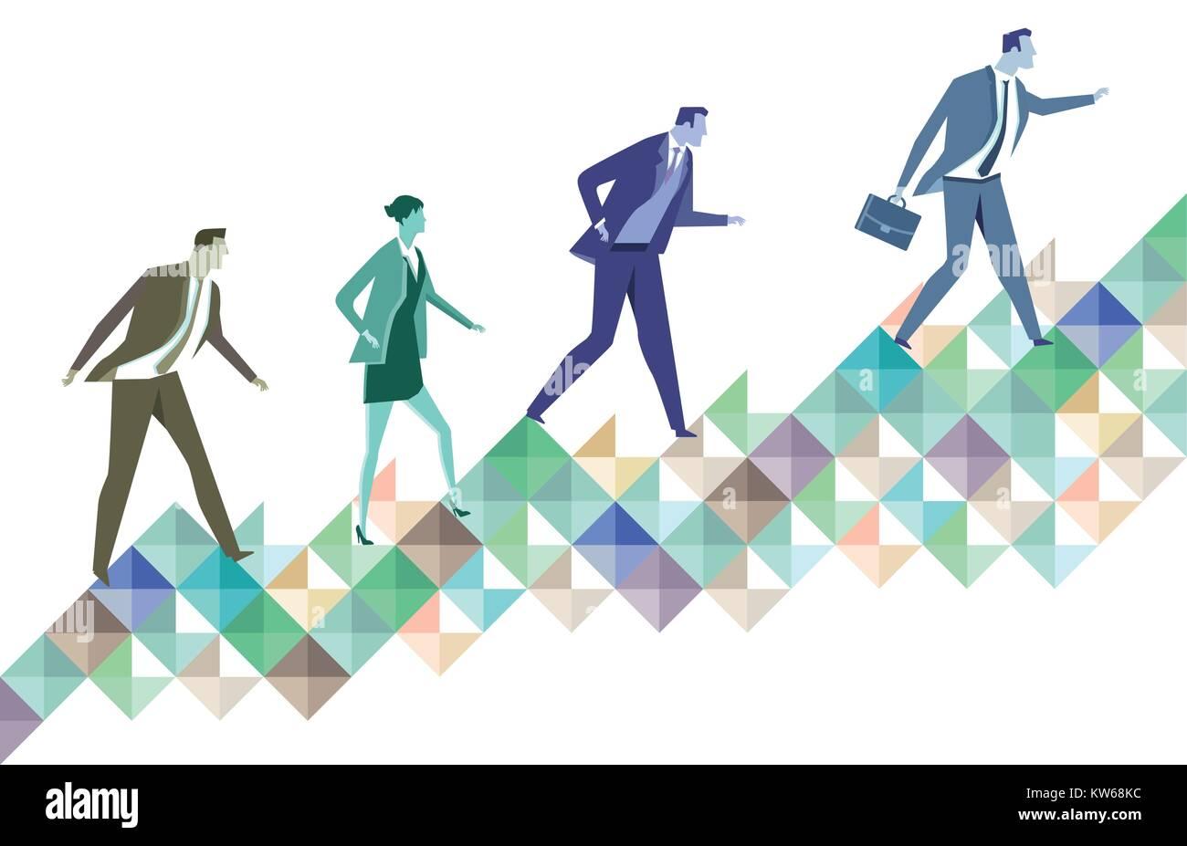 Career ladder, symbol illustration - Stock Vector