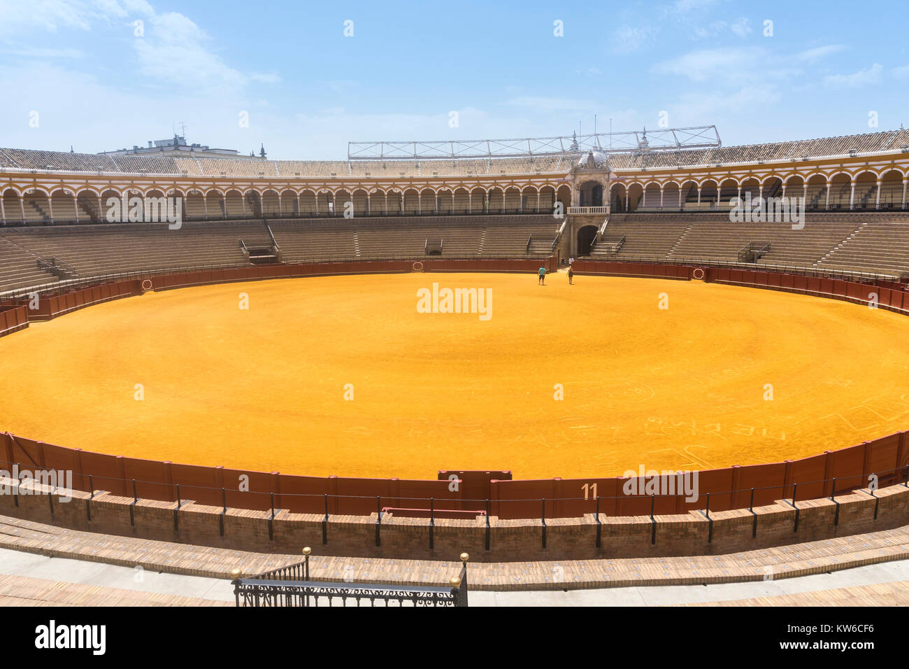Seville,Spain-august 7,2017view of the inside of the Plaza de toros de la Real Maestranza de Caballería de - Stock Image