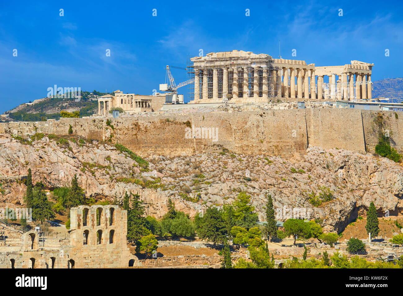View at Parthenon, Acropolis, Athens, Greece - Stock Image