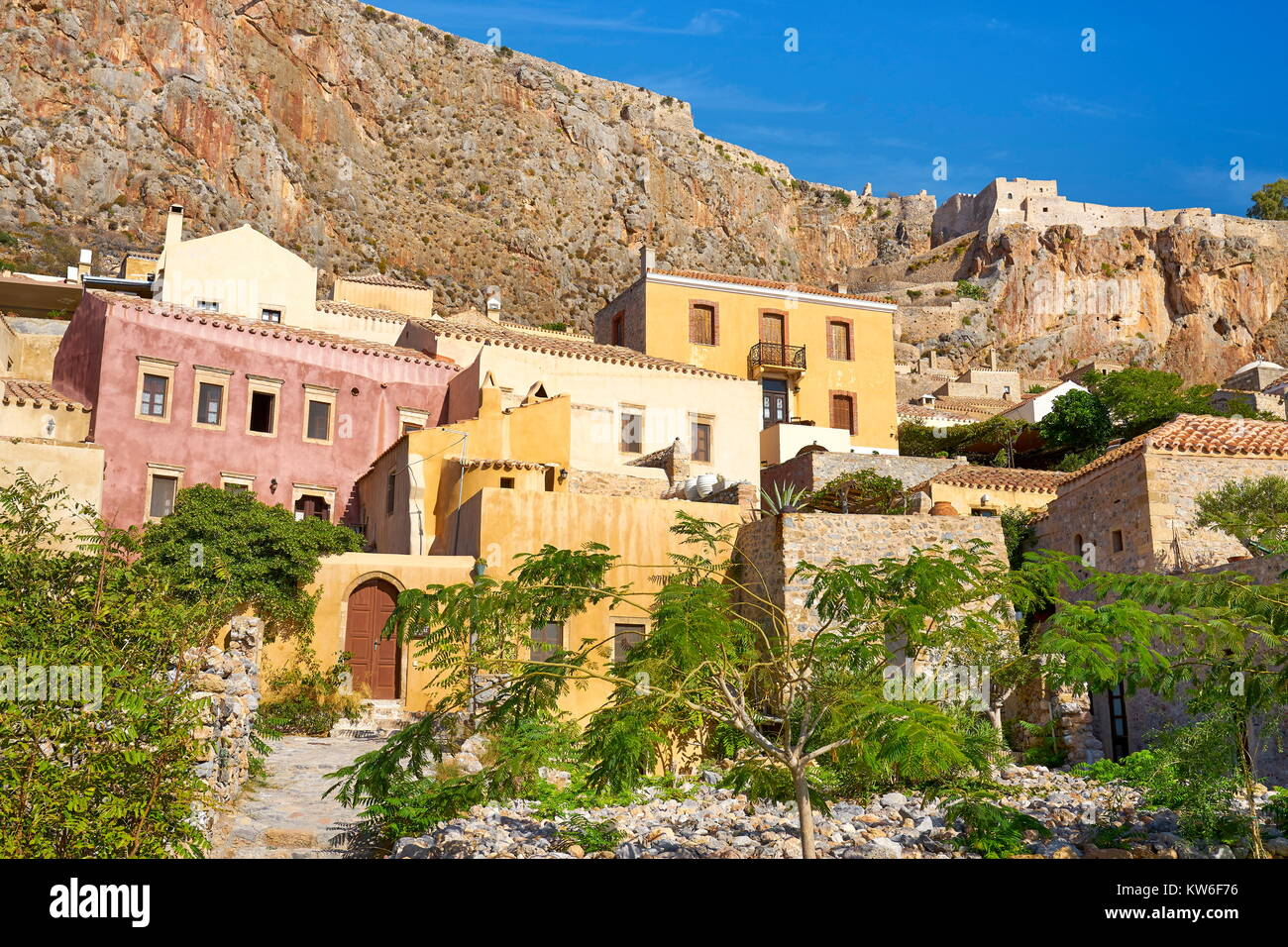 Monemvasia medieval town, Peloponnese, Greece - Stock Image