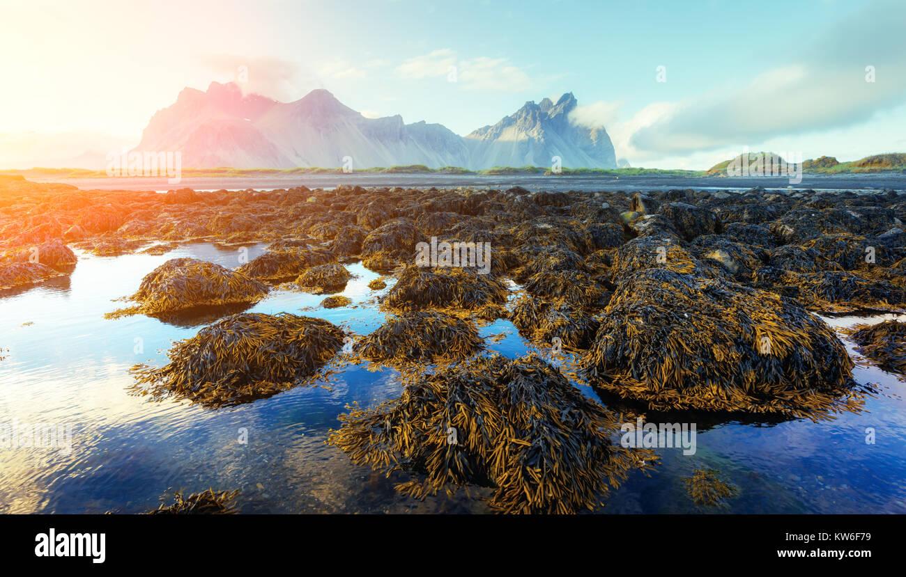 Famous Stokksnes mountains - Stock Image