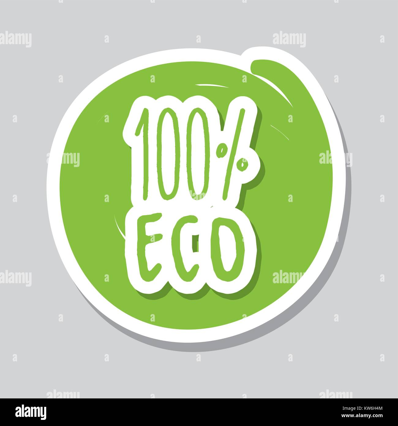 one hundred percent with eco food vector illustration - Stock Vector