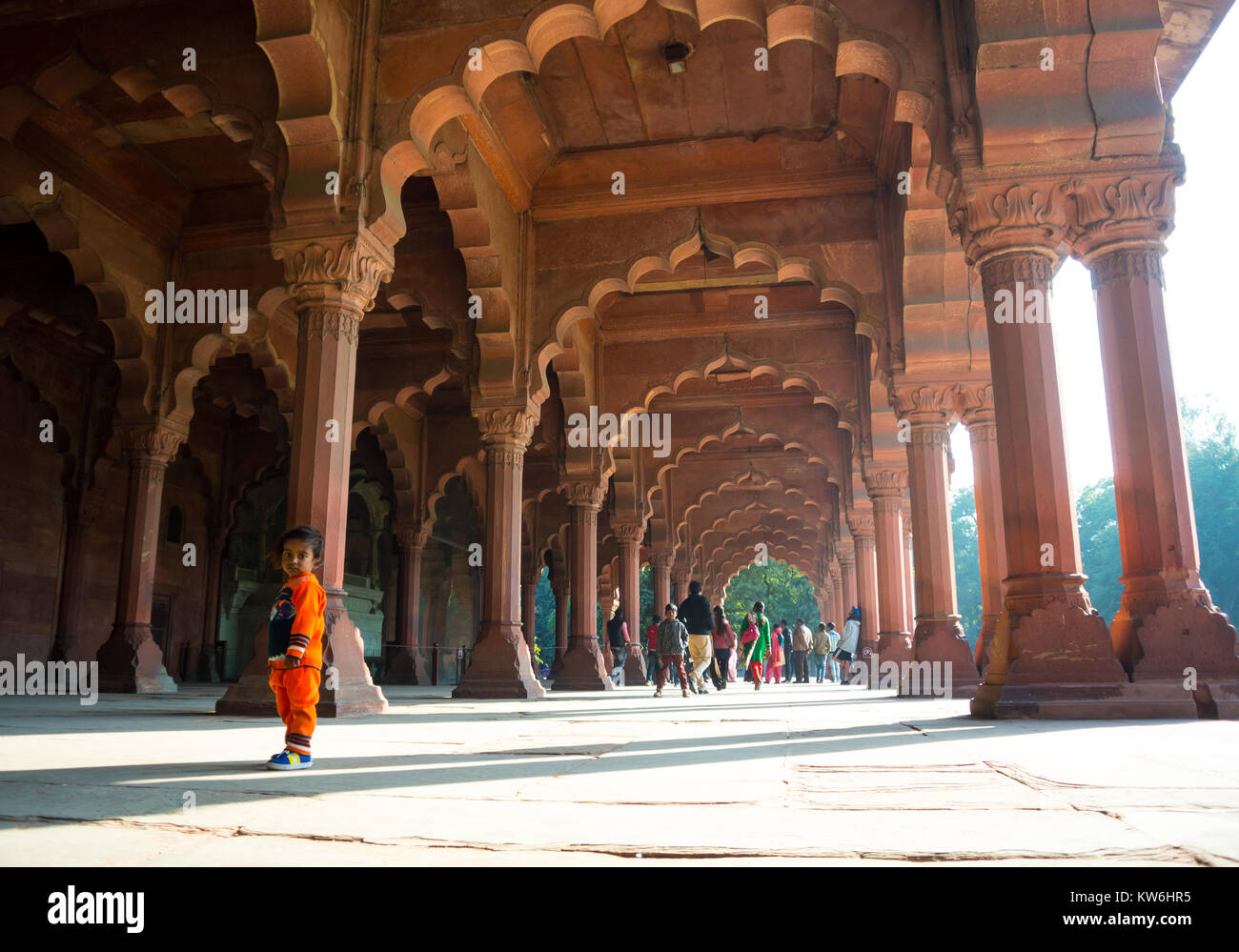 Red fort New Delhi India - Stock Image