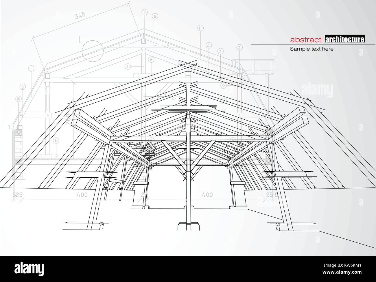 Architecture building design Stock Vector