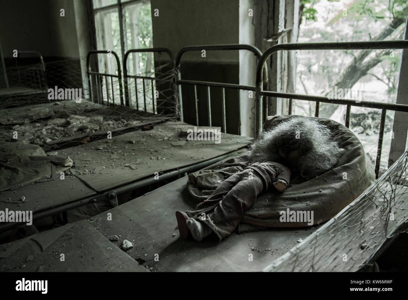 Chermobyl Kindergarten - Stock Image