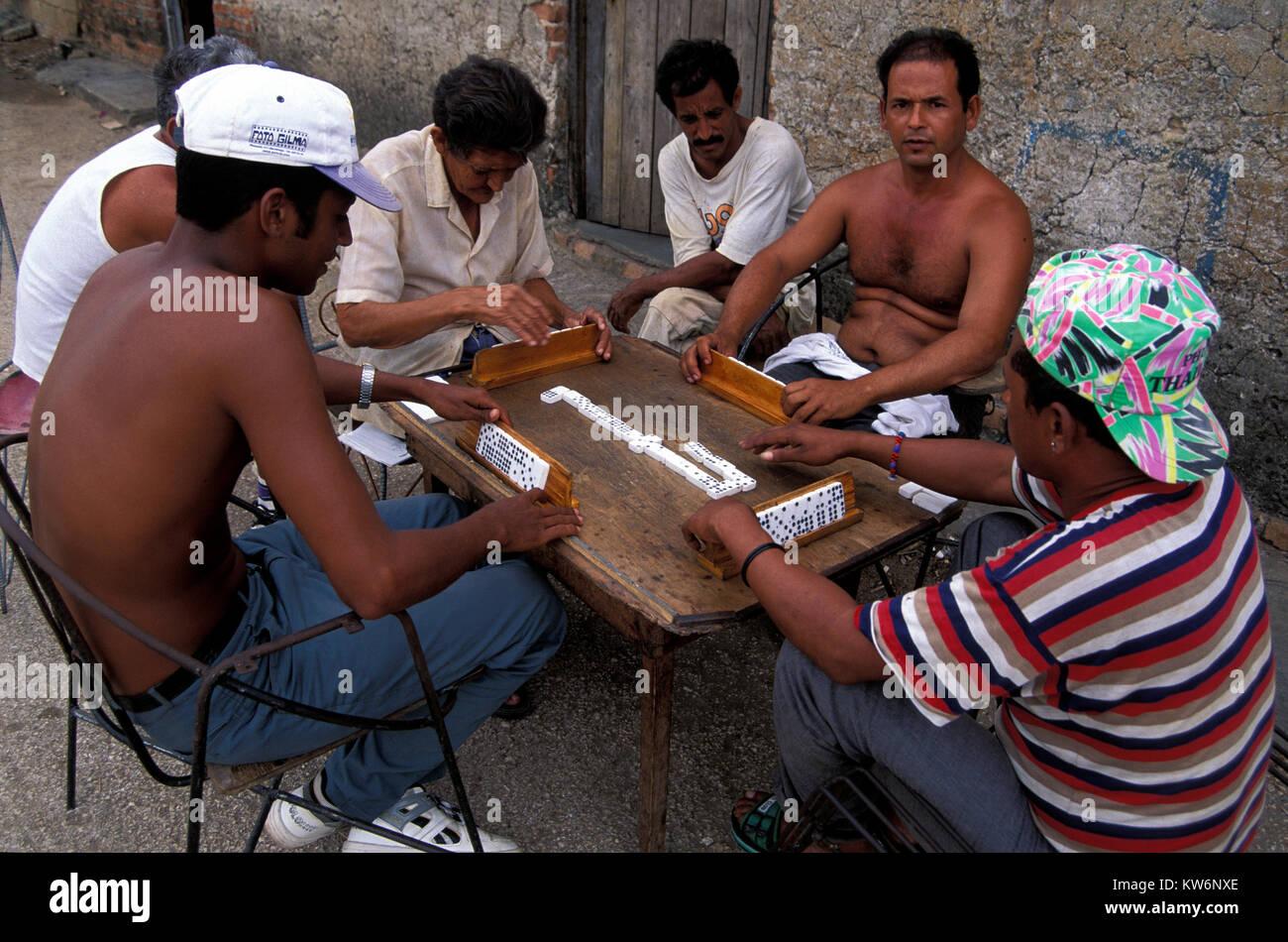 Domino player,Trinidad, Cuba - Stock Image