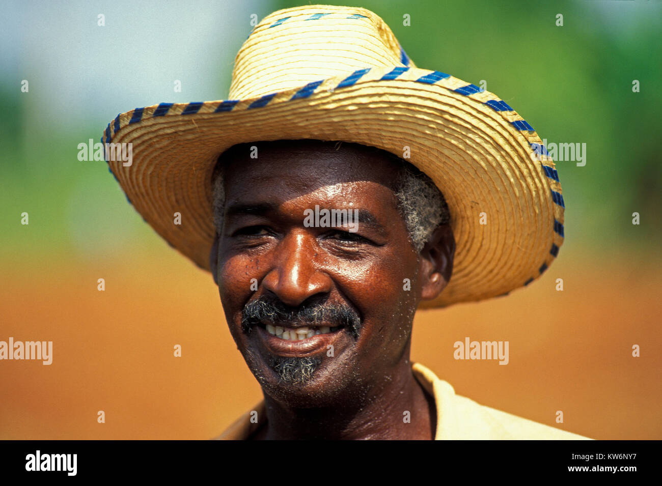 Portrait of a farmer, Cuba - Stock Image