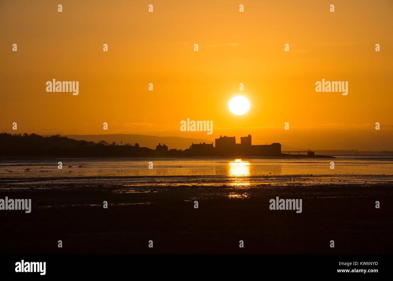 Blackness Castle, Scotland, UK, Sunset Stock Photo