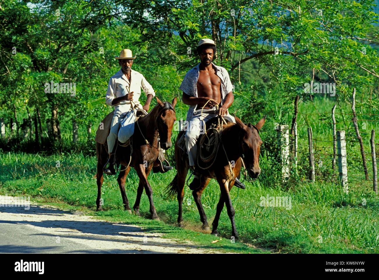 Horsemen near Santiago, Cuba - Stock Image