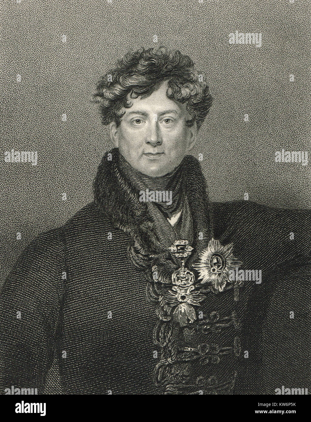 King George IV of the United Kingdom, 1762-1830, reigned 1820-1830 - Stock Image