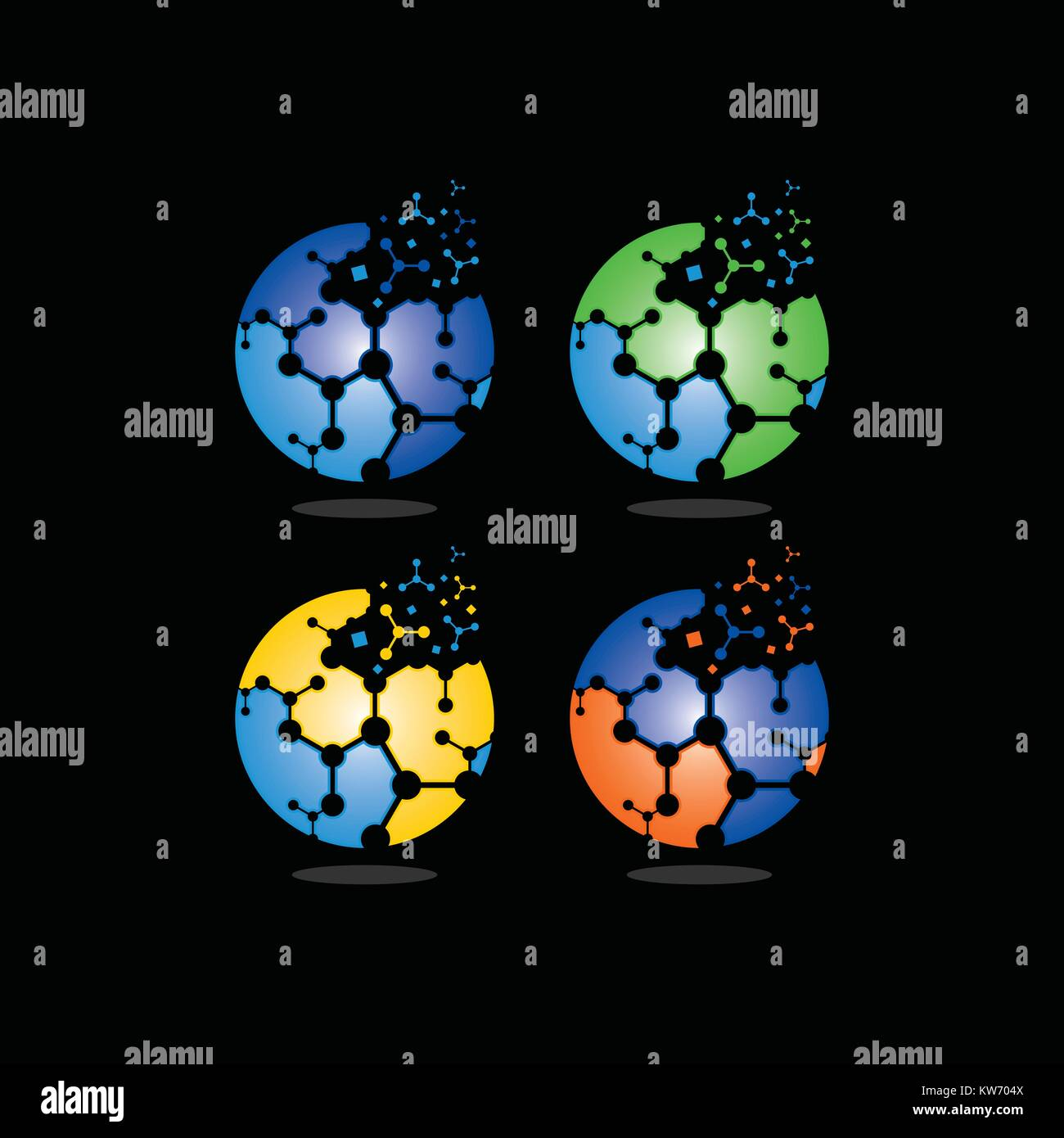 circle digital technology logo - Stock Image
