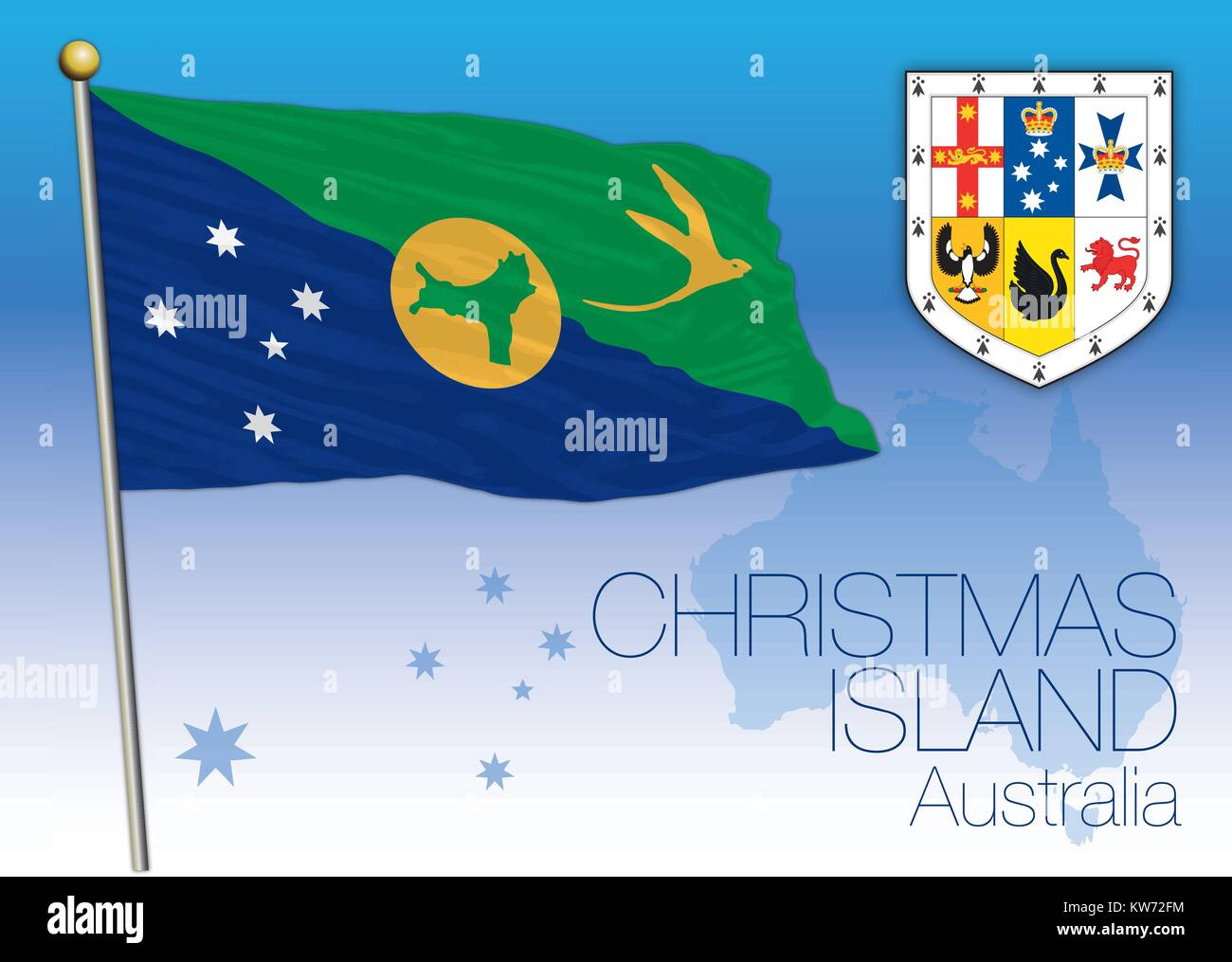 Christmas Island Flag.Christmas Island Flag Of The State And Territory Australia
