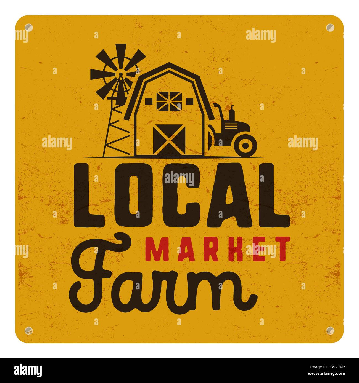 Organic farmer business card stock photos organic farmer business local farm market poster retro design included farmer symbols and elements tractor colourmoves