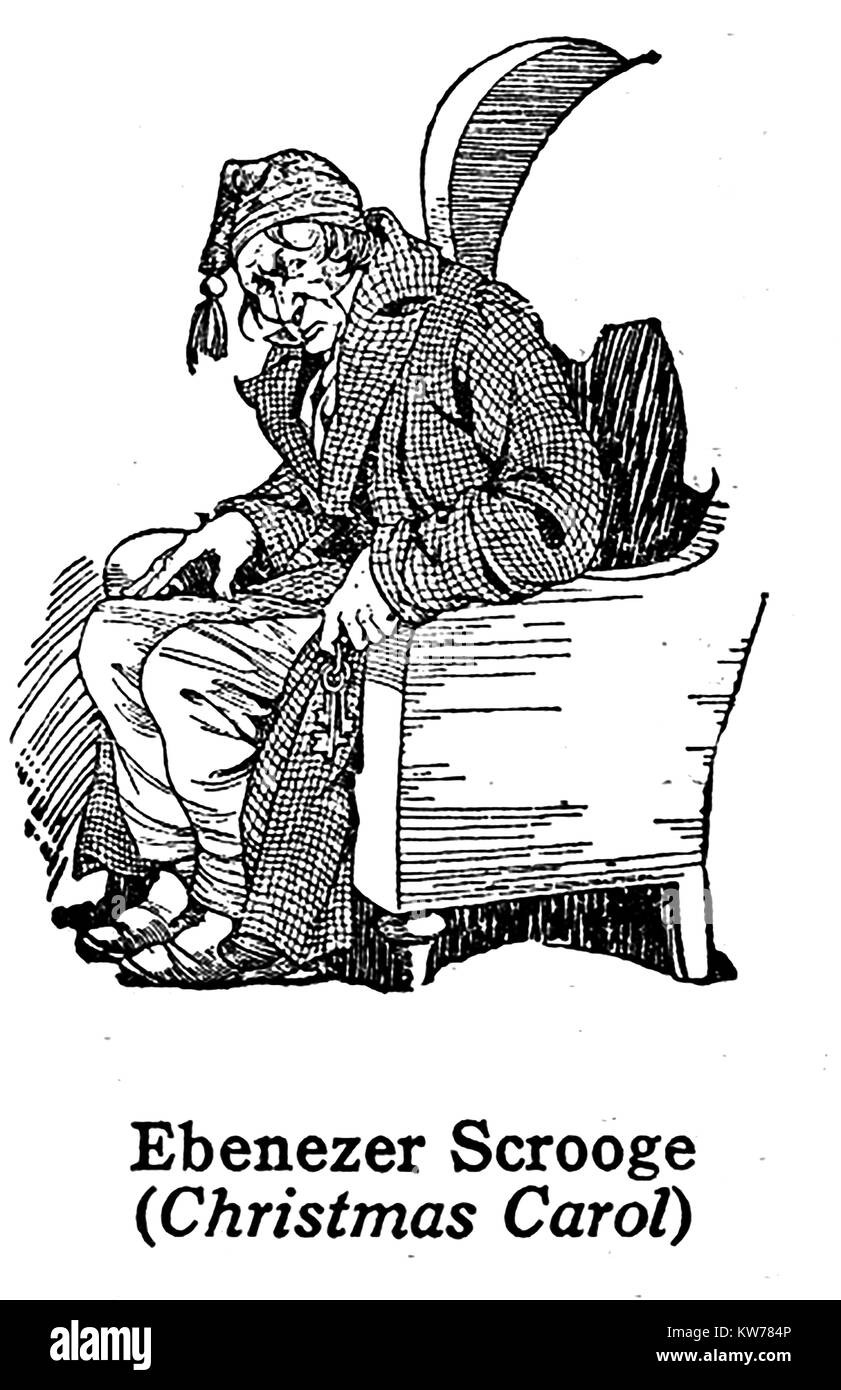 Christmas Carol Scrooge Drawing.Ebenezer Scrooge Stock Photos Ebenezer Scrooge Stock