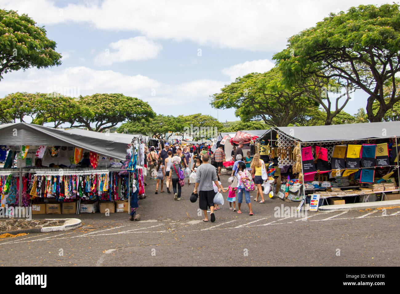 Aloha Stadium Swap Meet Stock Photo