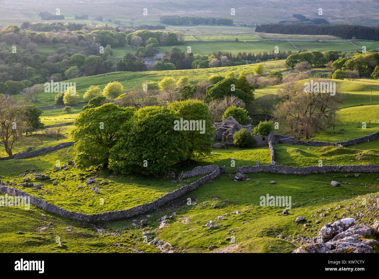 Chapel Le Dale; Ingleton; From Southerscales; Yorkshire; UK - Stock Image
