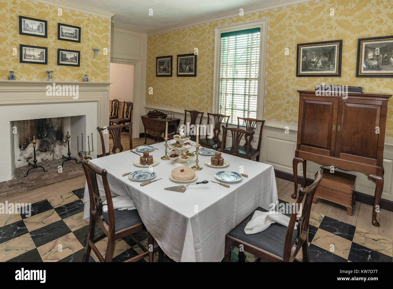 Beau Thomas Everard House Dining Room In Colonial Williamsburg ...