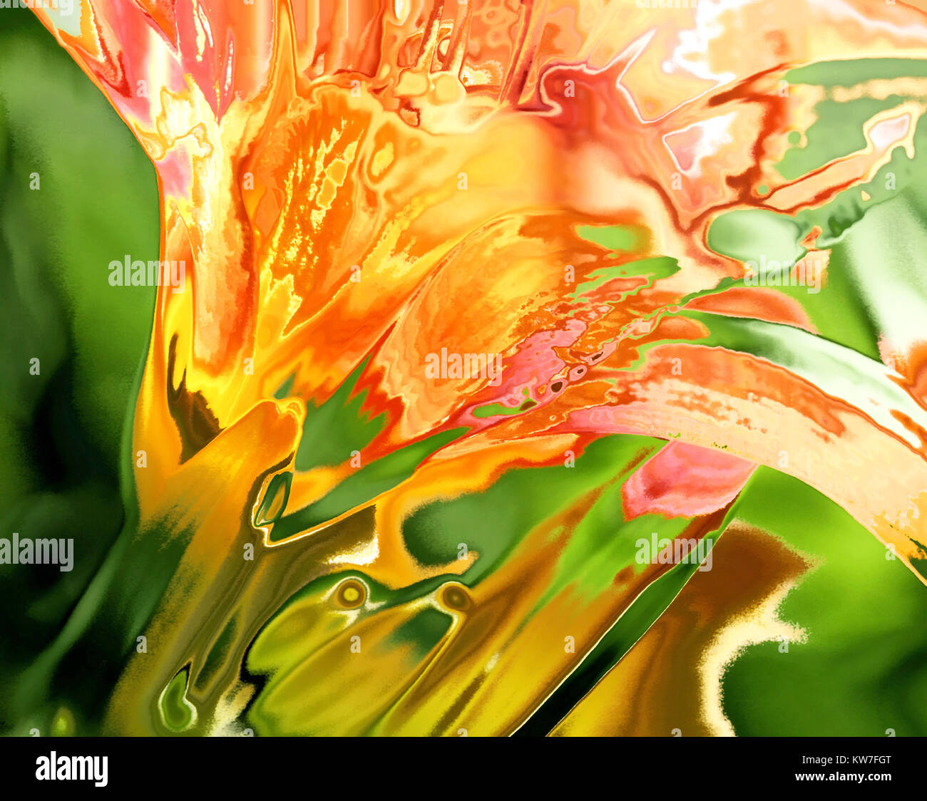Abstract background - the Day Lily Flower Stock Photo